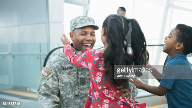 US Military Soldier returning home