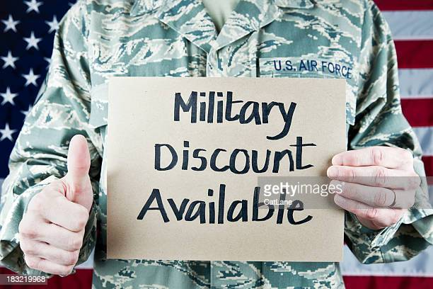 Military Soldier with Sign