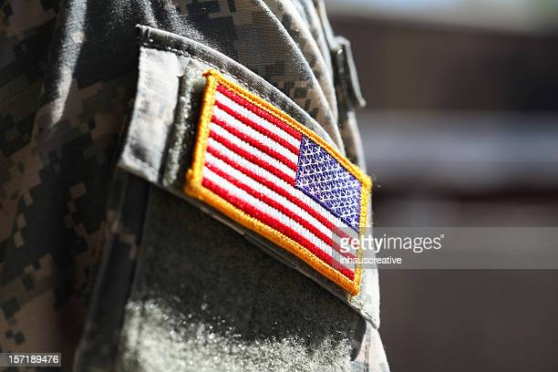 Military soldier's american flag arm patch