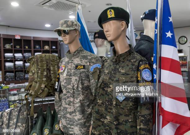 Military souvenirs sold at the DMZ on the north and south Korea border, North Hwanghae Province, Panmunjom, South Korea on September 8, 2017 in...