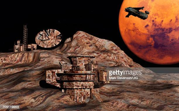 A Military Style Base On One Of The Planet Mars Moons