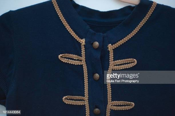 military style blue bolero cardigan - military style stock pictures, royalty-free photos & images