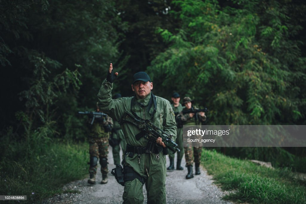 Military team on duty : Stock Photo