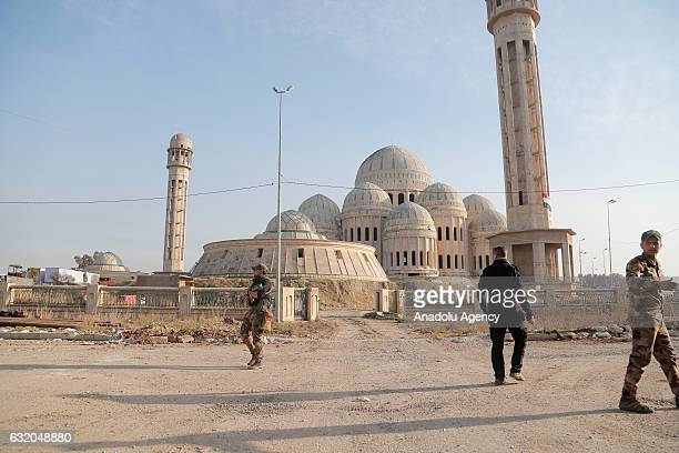 Military units patrol the streets of eastern Mosul as they completely liberate it from Daesh in Mosul Iraq on January 18 2017 Eastern Mosul east of...