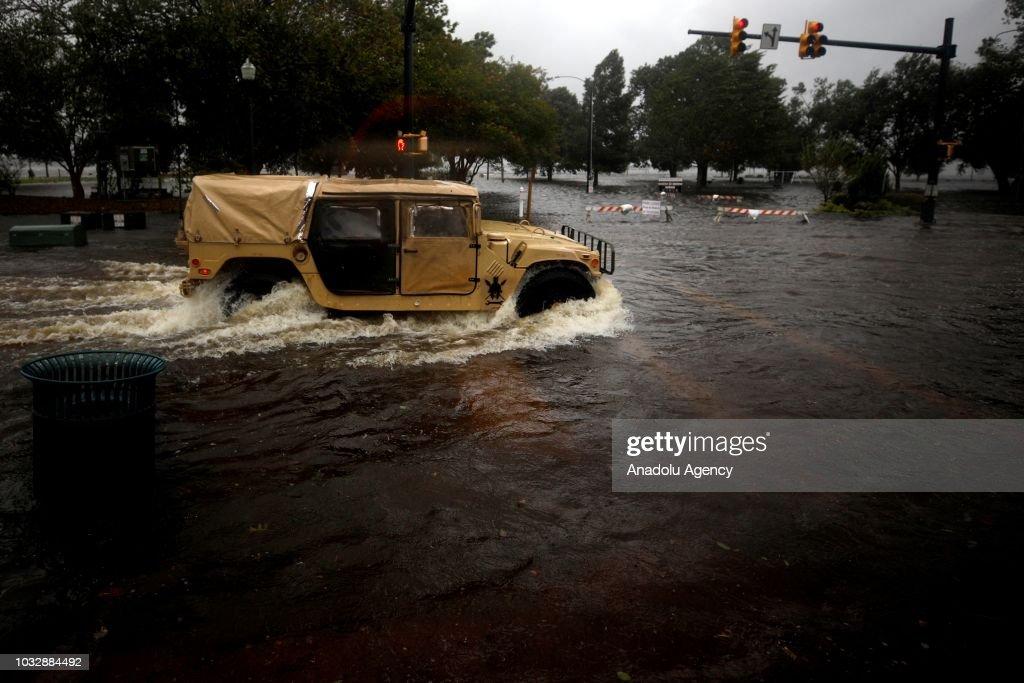 Hurricane Florence : Fotografía de noticias