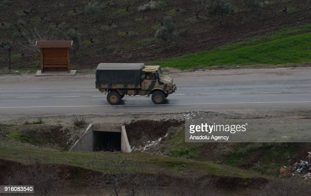 Military vehicle of Turkey is being dispatched to support the units at border as Turkish Army Forces continue to hit PYD/PKK terror group targets in...