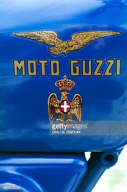Military Vehicles Italy 20th century Guzzi Alce PAI motorcicle year 1941 Detail motorcycle brand logo