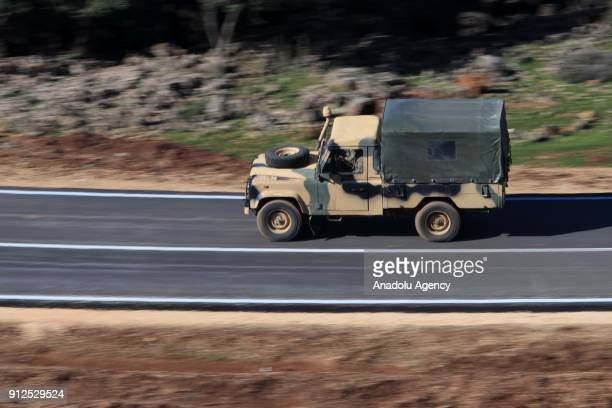 Military vehicles of Turkey are being dispatched with security measures to Turkey's Hatay to support the units deployed at the border as part of the...
