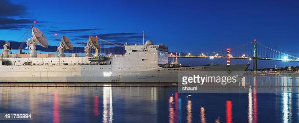 Military Vessel Docked in Halifax Harbour