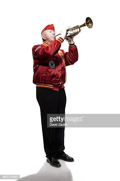 military veteran - bugle stock pictures, royalty-free photos & images