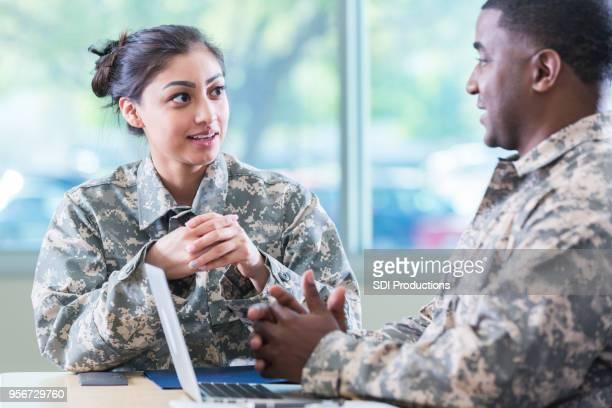 Military veterans meet to discuss recruitment