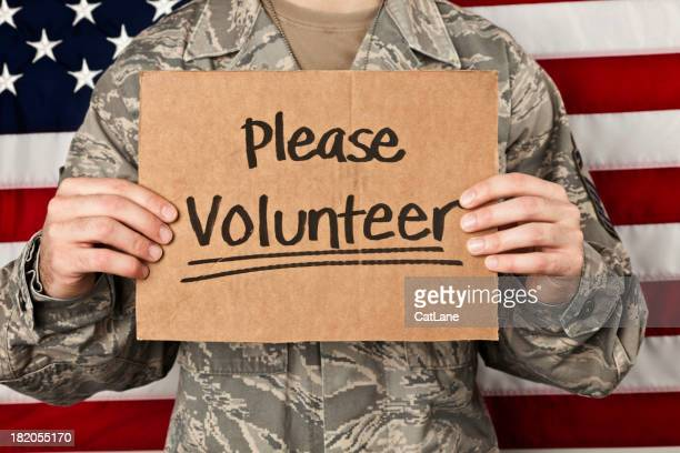 Military Volunteers Wanted