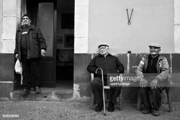 Militello Val di Catania, Sicily: Senior Men Outside Bar