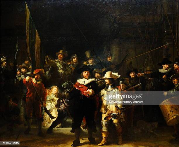 Militia Company of District II under the Command of Captain Frans Banninck Cocq Painted by Rembrandt van Rijn Dated 17th Century