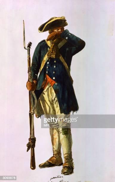 Militia infantryman in the Continental Army.