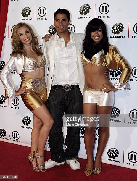 Milk and Honey arrive before The Dome 43 music show at the Color Line Arena on August 31 2007 in Hamburg Germany