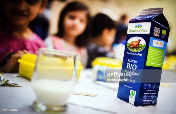 A milk carton standing on a table of the Theodor Storm Elementary School in Berlin Germany 09 October 2017 The students of this elementary school...