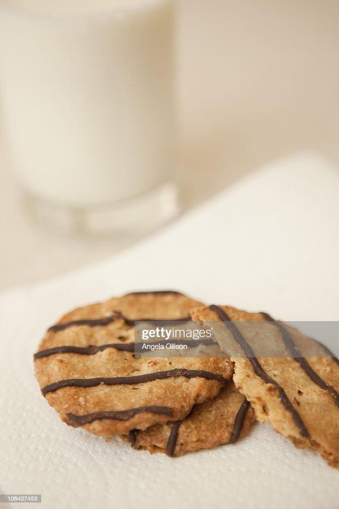 Milk & Cookies : Stock Photo