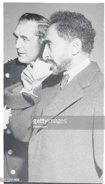 Milk for the Emperor Copenhagen Emperor Haile Selassie of Ethiopia samples the milk at a dairy in Denmark where he has concluded a threeday state...