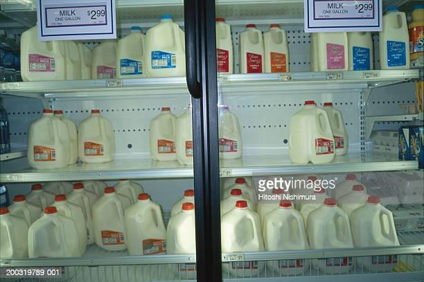 Milk gallons in store