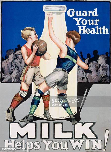 Milk Helps You Win Advertising Poster