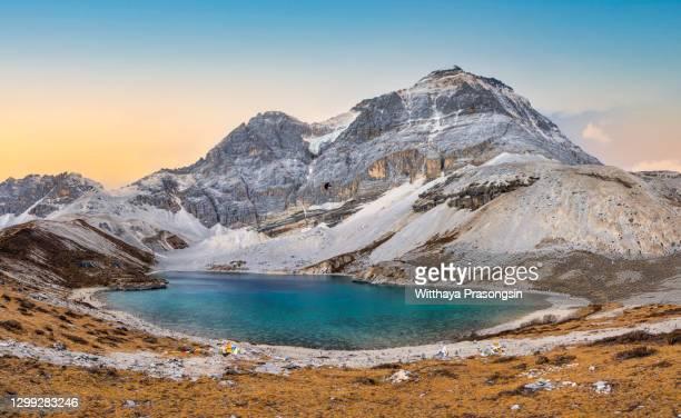 milk lake in yading nature reserve, sichuan, china - 氷河湖 ストックフォトと画像
