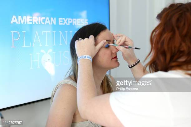 Milk Makeup on display at the American Express Platinum House at the Avalon Hotel Palm Springs on April 13 2019 in Palm Springs California