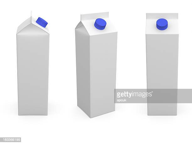 milk or juice box. - milk pack stock photos and pictures