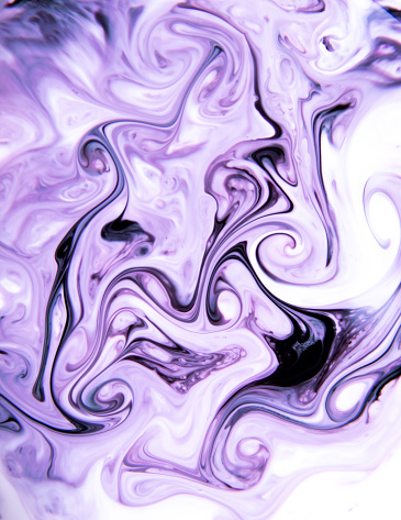 Milk, soap and coloring reaction in Ultra Violet - gettyimageskorea