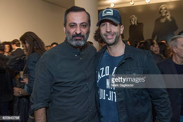 Milk Studios Owner Mazdek Rossi and Actor David Schwimmer attend 'Diverse Beauty' Book Launch Exhibition Opening at Milk Gallery on November 3 2016...