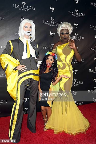 Milk Television Personality Nicole Snooki Polizzi and Bob the Drag Queen attends Logo's Third Annual Trailblazer Honors at The Cathedral Church of St...