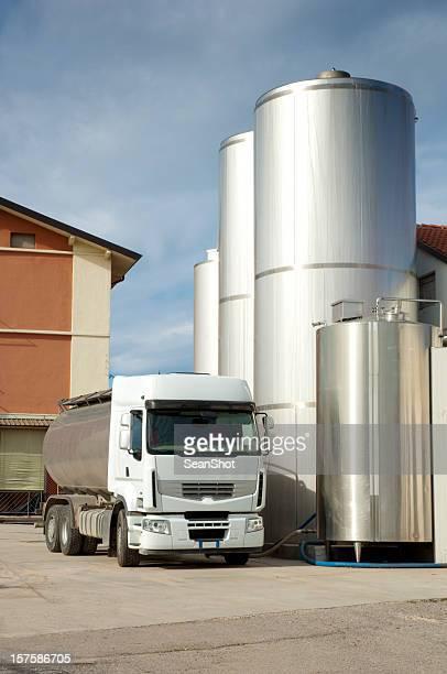 Milk Truck in Dairy Farm