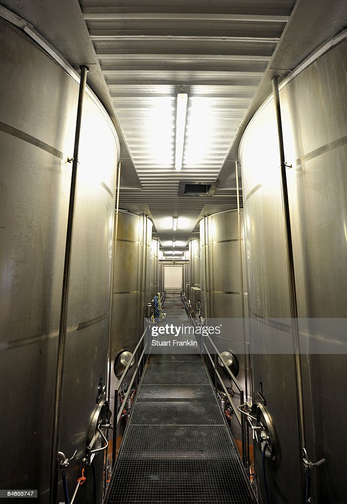 Milk vats are seen at the cheese dairy Nordmilch on February 5, 2009 in Nordheckstedt, near Flensburg, Germany.