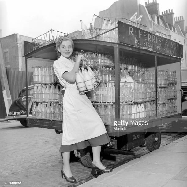 Milk Woman' Barbara Ferris who by day delivers the milk and the eggs and help out in the family shop in the evening becomes Barbara the Ballerina 1954