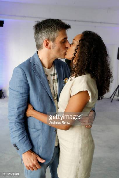 Milka Loff Fernandes and her husband Robert Irschara attend the 'Cabo by Milka' after party during Platform Fashion July 2017 at Areal Boehler on...