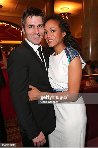 Milka Loff Fernandes and her husband Robert Irschara during the Ein Herz Fuer Kinder gala 2015 after show party at Borchardt Restaurant on December 5...
