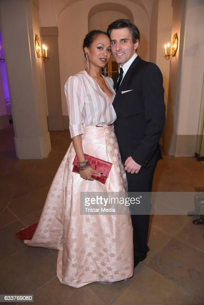 Milka Loff Fernandes and her husband Robert Irschara during the Semper Opera Ball 2017 at Semperoper on February 3 2017 in Dresden Germany