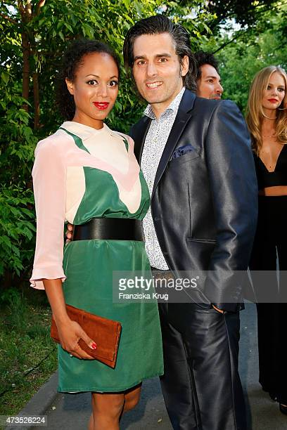 Milka Loff Fernandes and Robert Irschara attend the Maybelline 100th anniversary celebrations on May 15 2015 in Berlin Germany