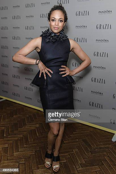 Milka Loff Fernandes attends the Grazia Best Dressed Award at Soho House on May 14 2014 in Berlin Germany