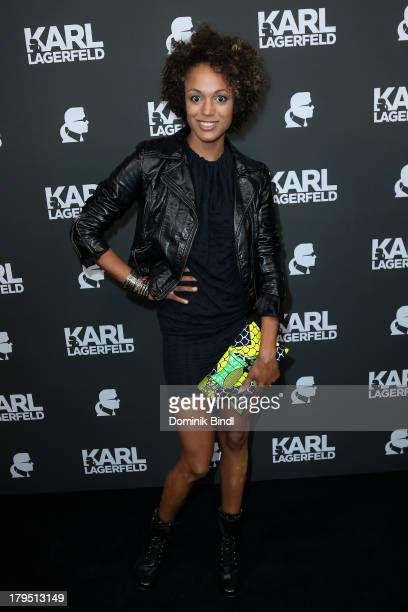 Milka Loff Fernandes attends the Karl Lagerfeld store opening on September 4 2013 in Munich Germany