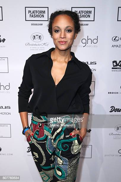 Milka Loff Fernandes attends the Thomas Rath show during Platform Fashion January 2016 at Areal Boehler on January 31 2016 in Duesseldorf Germany