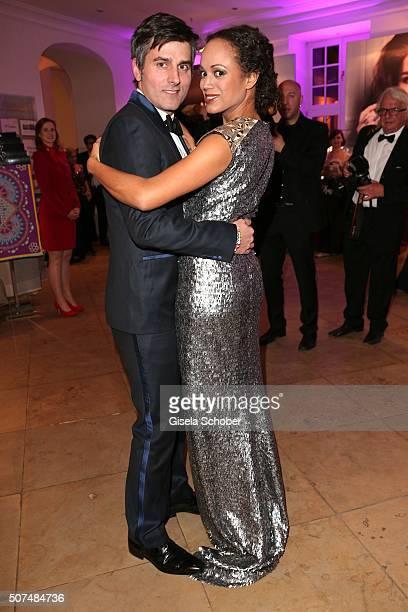 Milka LoffFernandes and her husband Robert Irschara during the Semper Opera Ball 2016 reception at Taschenbergpalais Kempinski on January 29 2016 in...