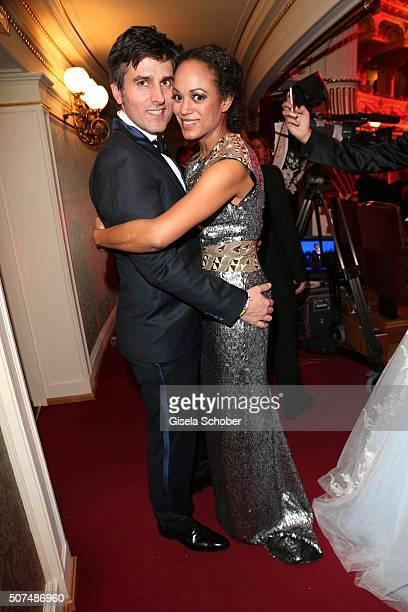 Milka LoffFernandes and her husband Robert Irschara during the Semper Opera Ball 2016 at Semperoper on January 29 2016 in Dresden Germany