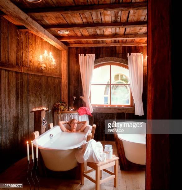 Milk-bath. Hotel Mirabell. Valdaora. Val Pusteria. Trentino Alto Adige. Italy.