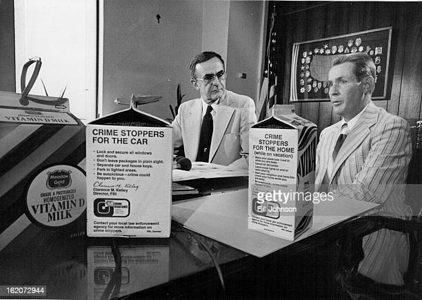 SEP 13 1976 SEP 14 1976 MilkCarton Messages To Aid In Fight Against Crime Ted Rosack left special agent in charge of the Denver FBI office and Bill...