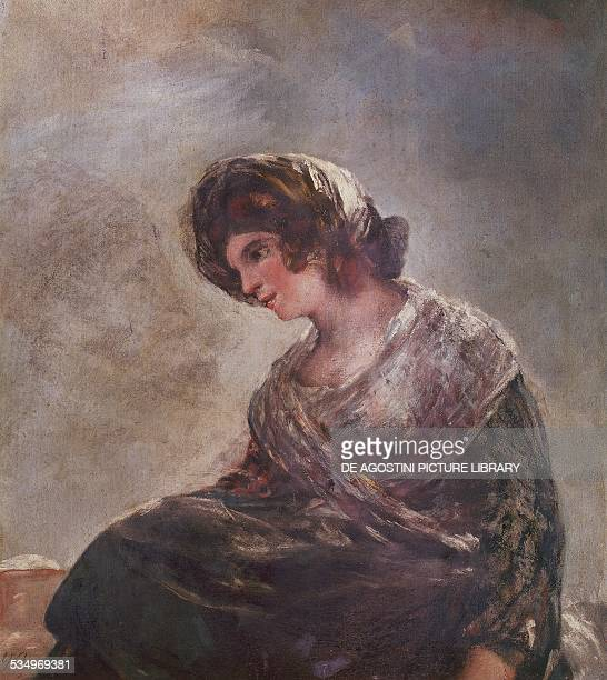 Milkmaid of Bordeaux by Francisco de Goya oil on canvas 76x68 cm Spain 19th century Madrid Museo Del Prado