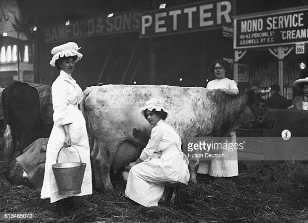 Milkmaids at a Dairy Show