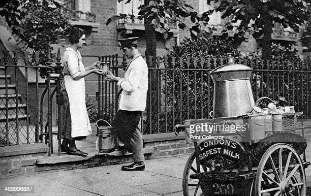 Milkman North London 19261927 Milkman delivering 'London's safest milk' Most people didn't have fridges at this time Illustration from Wonderful...