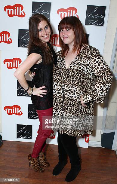 Milk's owners Bari Milken Bernstein and Marni Flans at If Pockets Talked Pop Up Shop at Milk Boutique on November 15 2011 in Los Angeles California