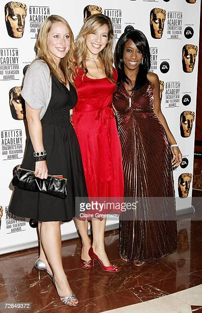 'Milkshake' presenters Beth Evans Naomi Williamson and Kemi Majeks arrive at the 11th British Academy Children's Film Television Awards at the Park...